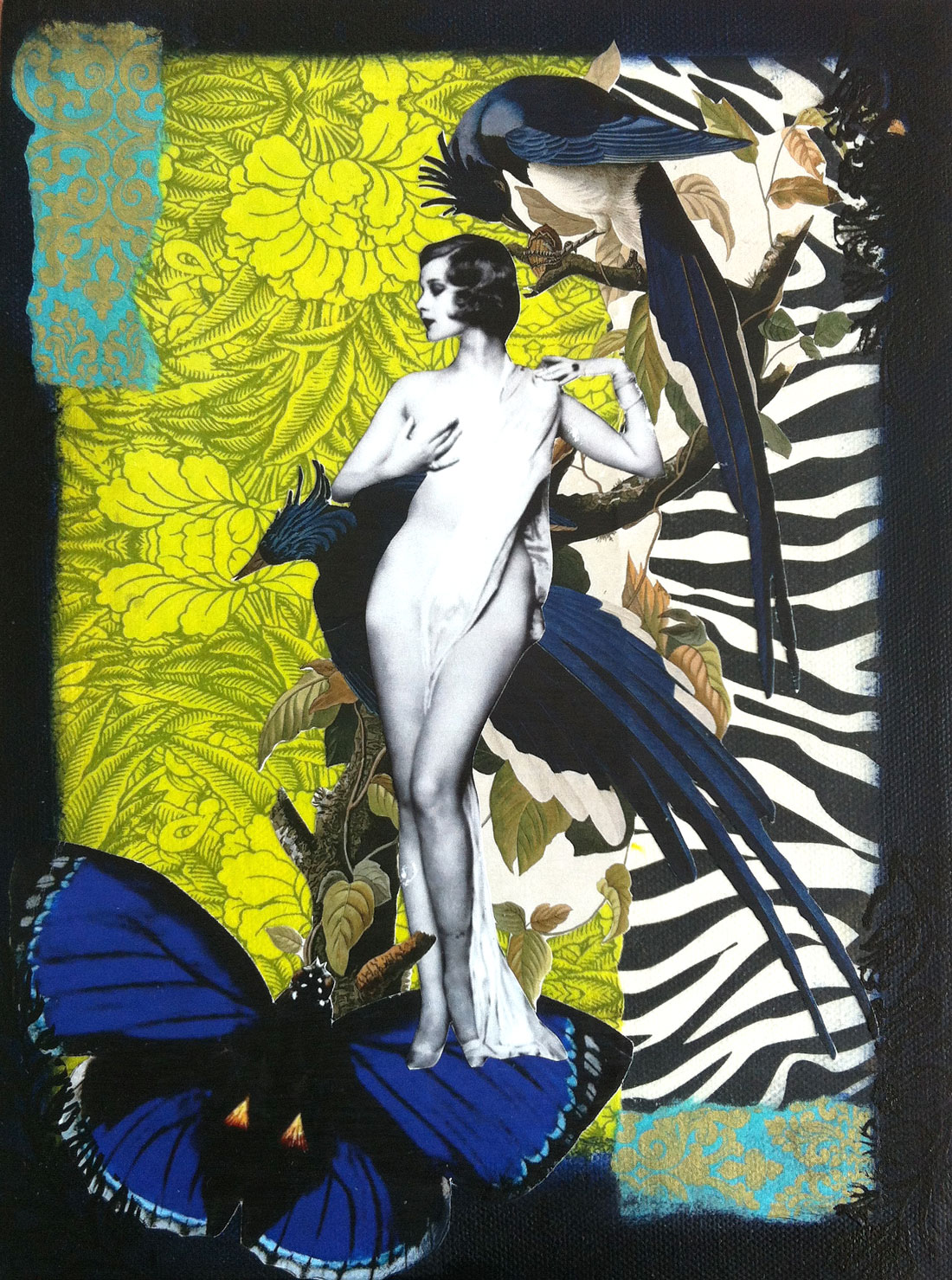 Nude With Birds